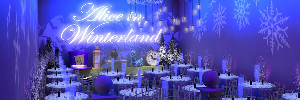 Alice in Winterland Christmas Party Header