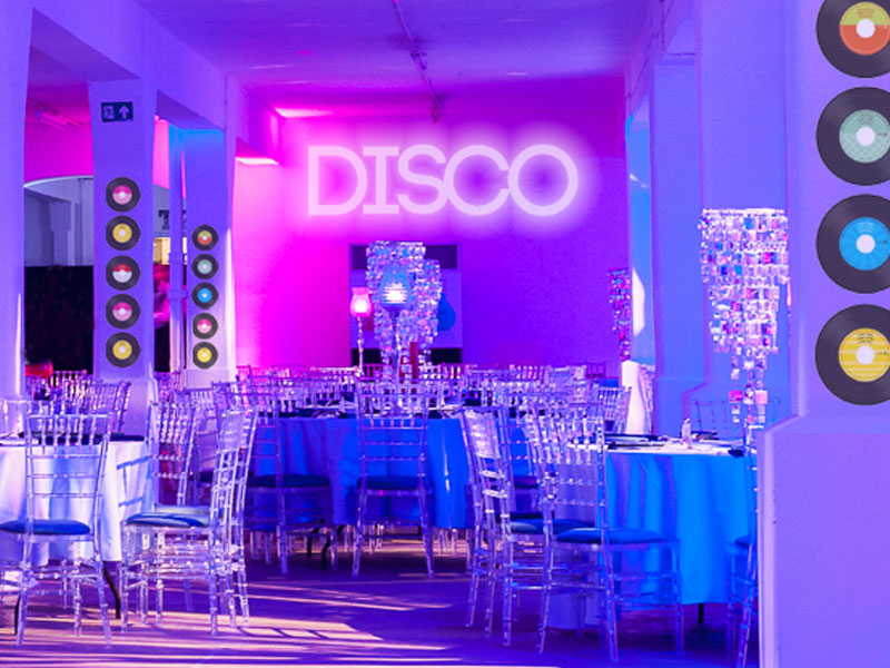 disco through the decades shared christmas party london